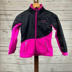 Columbia Pink and Black Zip Fleece Jacket